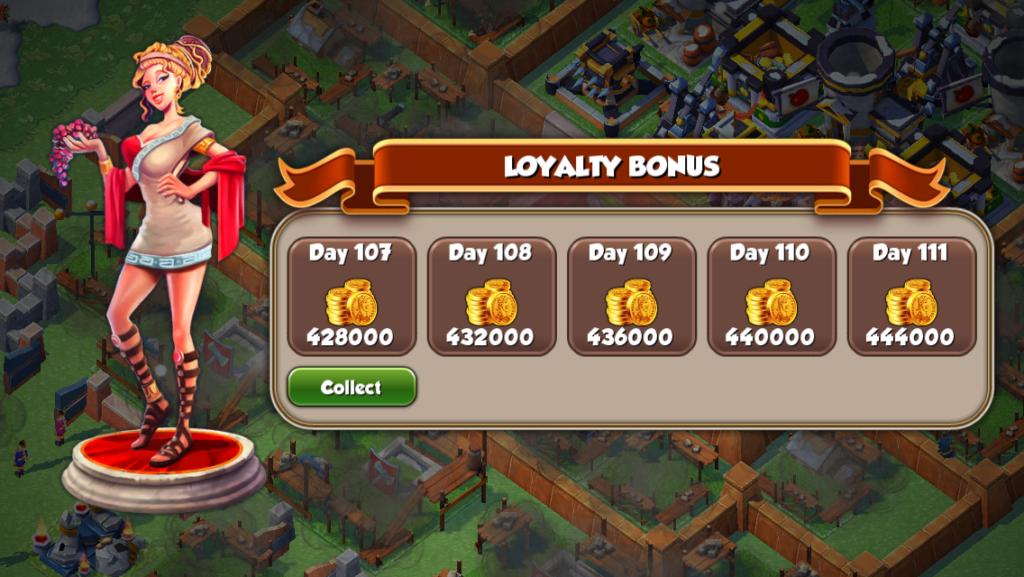 Total Conquest daily login bonus