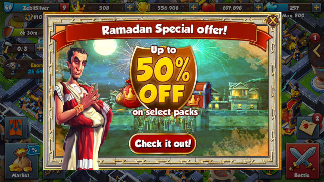 Total Conquest Ramadan promo local gaming example