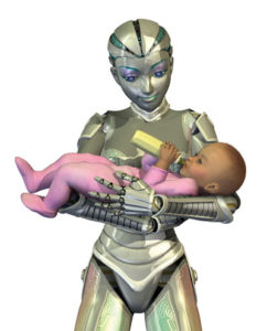 "With robot nannies, no more ""my nanny quit work"" issues!"