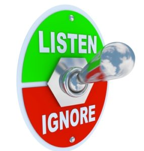 listen customer or ignore customer