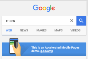 Google Acceleared Mobile Pages Project